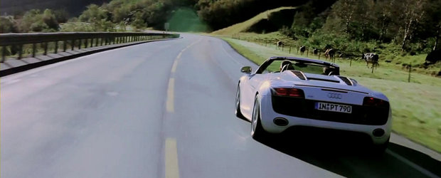 VIDEO: Germanul Audi R8 Spyder porneste pe urmele vikingilor