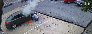 VIDEO infricosator: un cauciuc explodeaza in timp ce este umflat