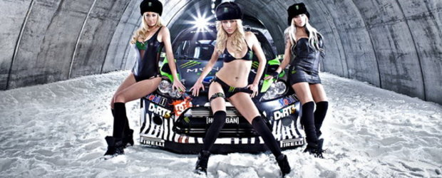 Video: Ken Block ne prezinta noul sau Ford Fiesta WRC, plus fetele Monster!