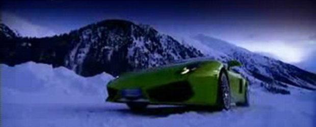 Video: Lamborghini Gallardo LP560 pe zapada