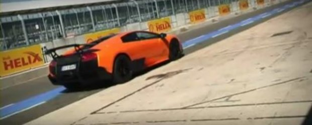 Video: Lamborghini Murcilago LP670-4 SV pe circuit