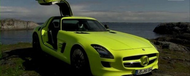 Video: Mercedes-Benz SLS AMG E-Cell in actiune!