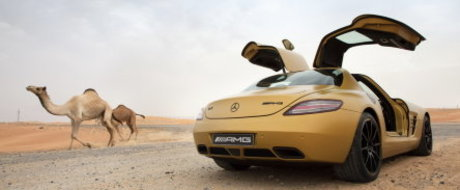 Video: Mercedes SLS AMG Desert Gold - Sageata aurie