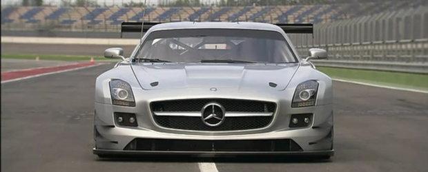Video: Mercedes SLS AMG GT3 - O noua masina de curse spectaculoasa!