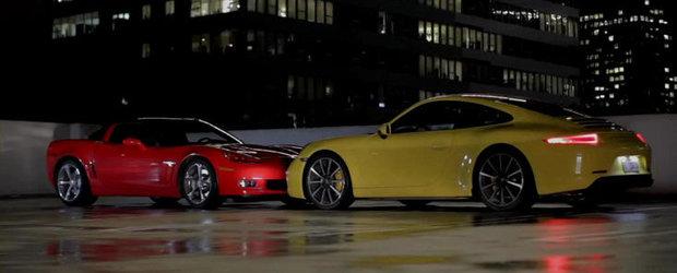 VIDEO: Motor Trend arunca in lupta directa noile Chevy Corvette Grand Sport si Porsche 911