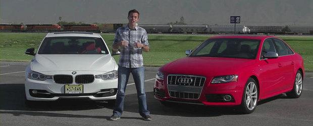 VIDEO: Noile Audi S4 si BMW 335i se dueleaza pentru suprematie