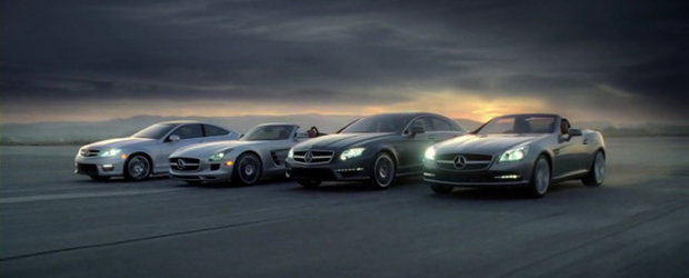 Video: Noile C63 AMG Coupe si SLS AMG Roadster se arata in ultima reclama Mercedes