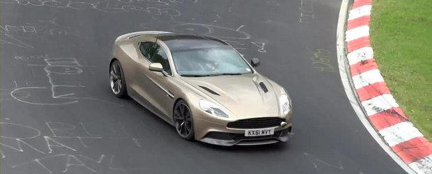 VIDEO: Noul Aston Martin Vanquish isi continua testele la Nurburgring