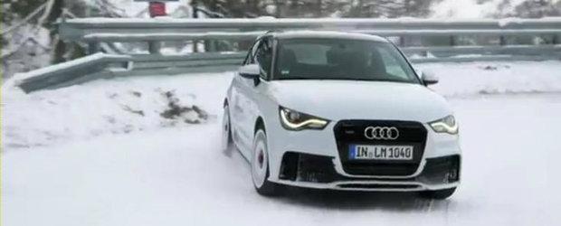 VIDEO: Noul Audi A1 Quattro iese la joaca in zapada