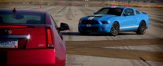 Video: Noul Cadillac CTS-V Coupe fata in fata cu Shelby GT500