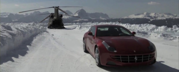 Video: Noul Ferrari FF a ajuns in varful lumii. Si la propriu, si la figurat!
