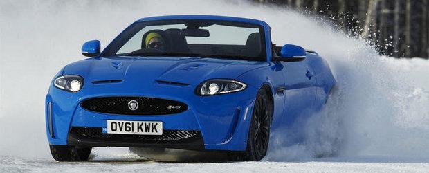VIDEO: Noul Jaguar XKR-S Cabrio ne ofera o portie de drifturi pe gheata