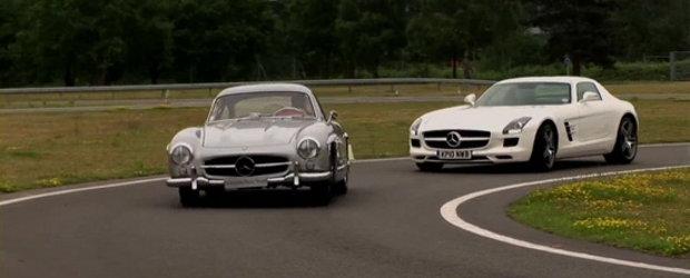 Video: Noul Mercedes SLS AMG isi intalneste stramosul - 300SL!