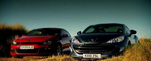 Video: Noul Peugeot RCZ fata in fata cu VW Scirocco