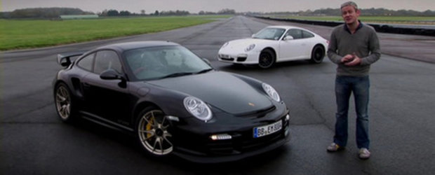 Video: Noul Porsche 911 GT2 RS executa in stil barbar micul-si-nevinovatul 911 Carrera!