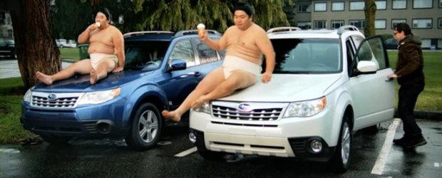 Video: Noul Subaru Forester este la fel de sexy precum... un luptator sumo!