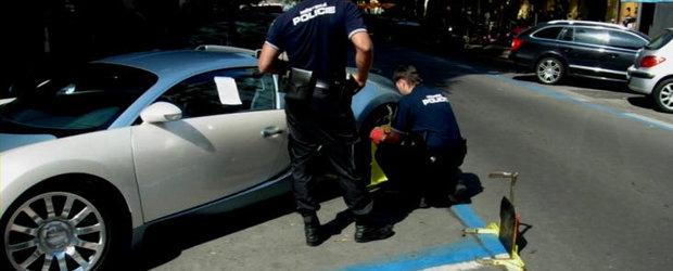 VIDEO: Parchezi ilegal, te alegi cu roata blocata. Posesorii de Veyron nu fac exceptie!