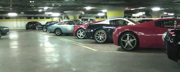VIDEO: Peste 140 de modele Ferrari surprinse laolalta, intr-un garaj din Roma