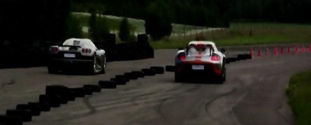 Video: Porsche Carrera GT vs. Koenigsegg CCR Evolution