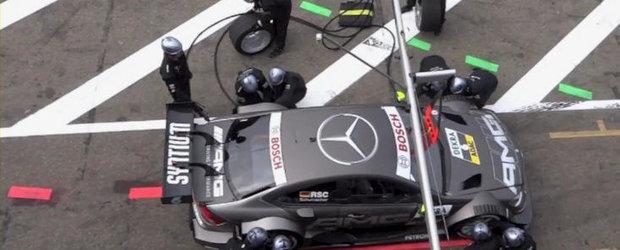 VIDEO: Ralf Schumacher trece pe la boxe, lasa in urma sa patru mecanici raniti
