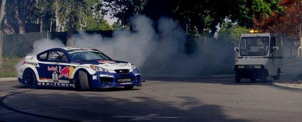 VIDEO: Rhys Millen fura un Hyundai Genesis Coupe pentru a-si potoli setea de drift