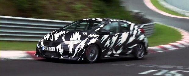 VIDEO SPION: Noua Honda Civic Type-R se dezlantuie la Nurburgring!