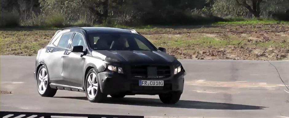 Video Spion: Primele cadre cu noul Mercedes GLA, rivalul lui BMW X1