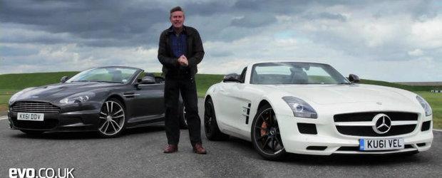 VIDEO: Tiff Needell arunca in lupta directa modelele DBS Volante si SLS AMG Roadster