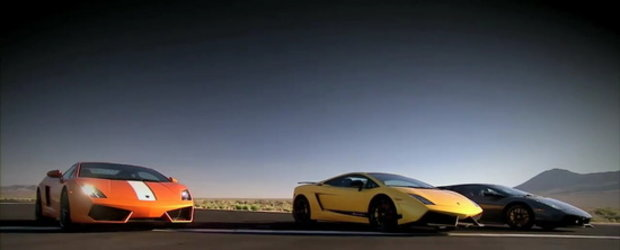 Video: Top Gear USA aduna laolalta trei tauri Lamborghini!