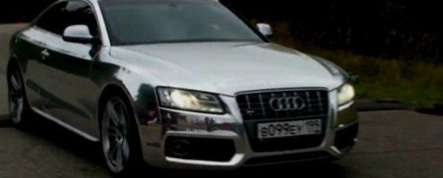 Video: Un Audi S5 cromat din Rusia...