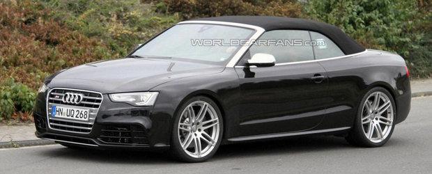 Viitorul Audi RS5 Cabrio, surprins complet necamuflat