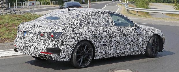 Viitorul Audi S6 surprins in premiera in teste. Motorul V8 ar putea fi de domeniul trecutului