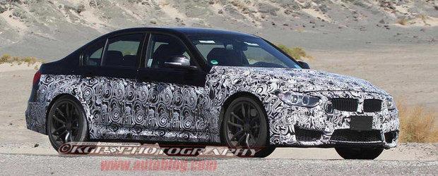 Viitorul BMW M3 F80 apare in noi imagini spion, debuteaza la Geneva 2013