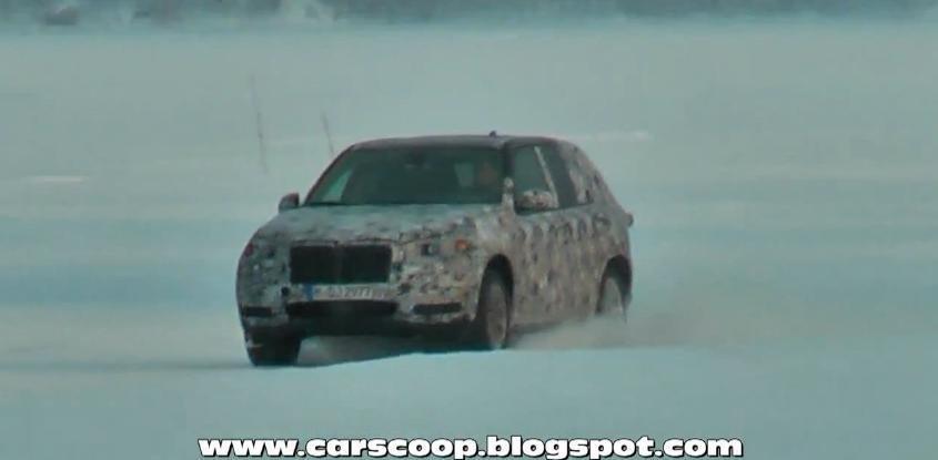 Viitorul BMW X5, surprins in teste pe zapada - VIDEO