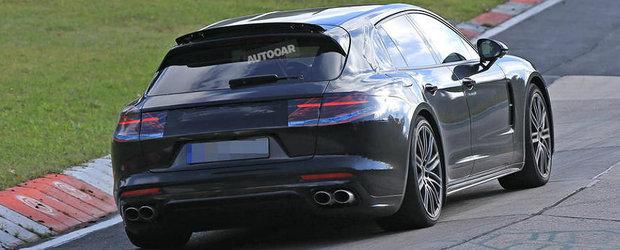 Viitorul break de la Porsche are un eleron care iese dintr-un alt eleron. Pe bune!