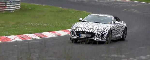 Viitorul Jaguar F-Type Coupe S V8 isi incordeaza muschii la Nurburgring
