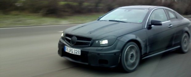 Viitorul Mercedes C63 AMG Coupe, surprins de un user 4Tuning in Germania!