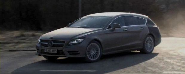 Viitorul Mercedes CLS Shooting Brake, surprins intr-un prim video spion