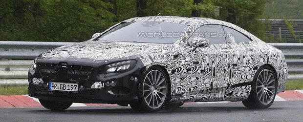 Viitorul Mercedes S-Class Coupe ni se arata in noi imagini spion!