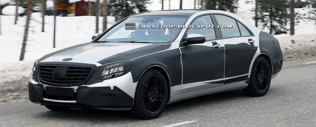 Viitorul Mercedes S-Class, surprins din nou teste