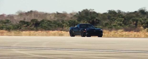 Vin vremuri electrizante: Un Corvette pe baterii depaseste bariera celor 300 km/h