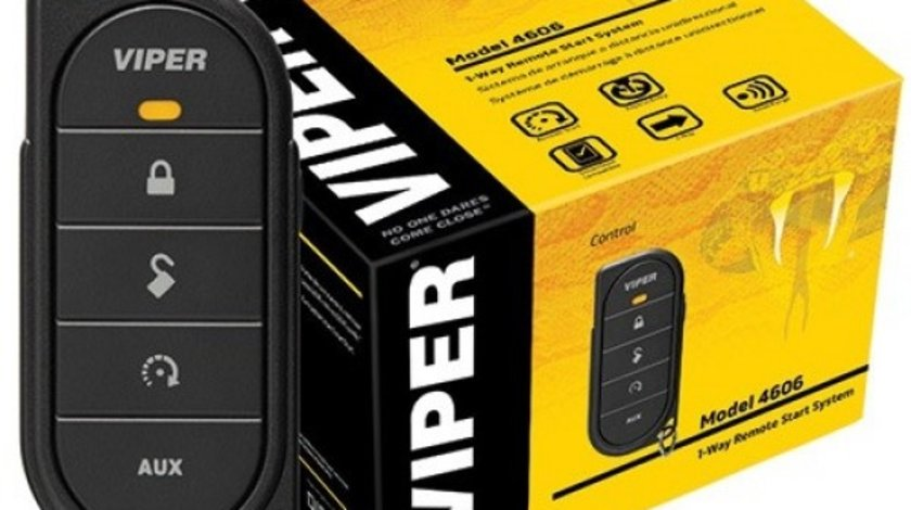 VIPER 4606V - Sistem de confort cu pornirea motorului din telecomanda unidirectionala; Telecomanda unidirectio