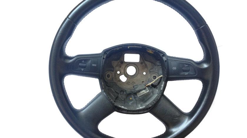 Volan 4 spite din piele cu airbag si padele + comenzi Audi A8 D3 4E an 2003 - 2010
