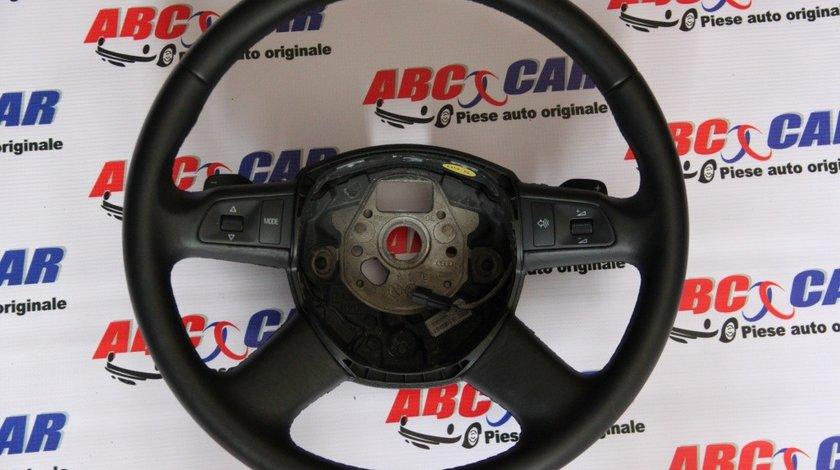 Volan din piele cu padele si comenzi Audi A8 D3 4E model 2003 - 2009 cod: 4F0419091D