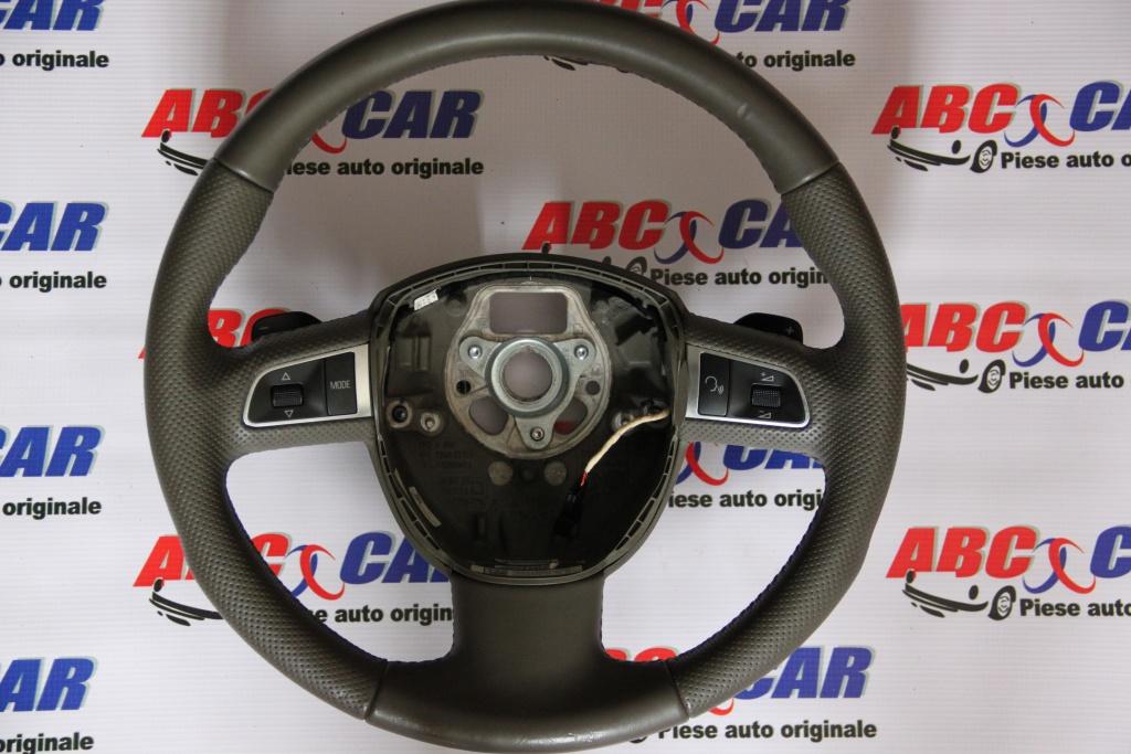 Volan din piele cu padele si comenzi Audi Q5 8R cod: 8R0419091G model 2012