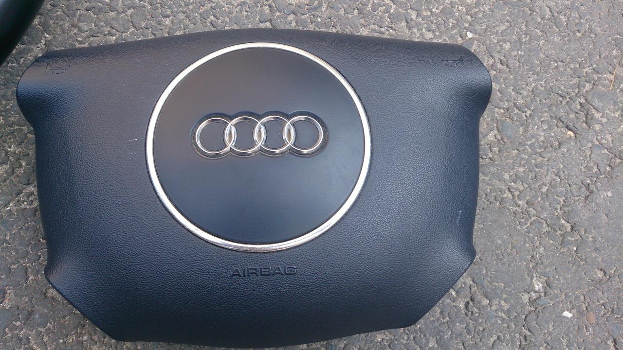 Volan Piele  + Airbag AUDI A2 A3 A4 A6 A8 piele model 4 spite ALBASTRU INCHIS