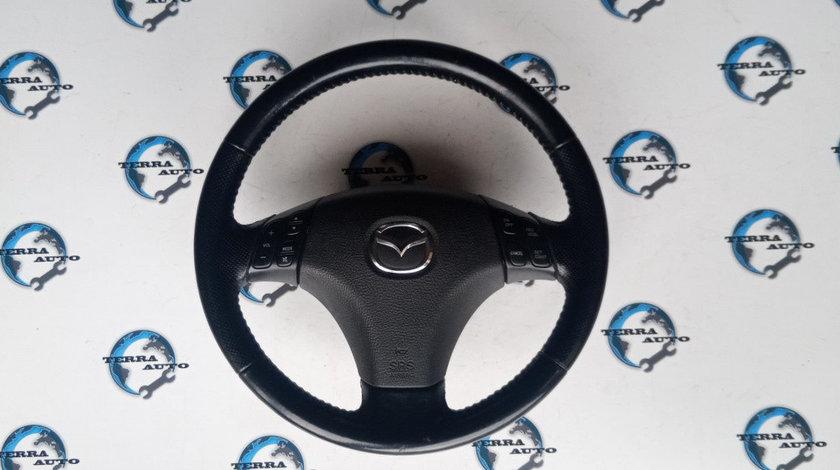 Volan piele perforata Mazda 6 cu airbag si comenzi