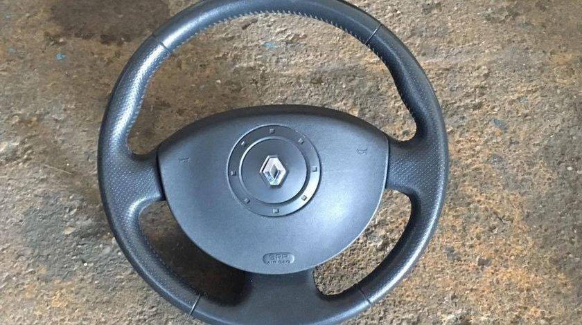 Volan Renault Scenic 2 cu airbag si piele perforata