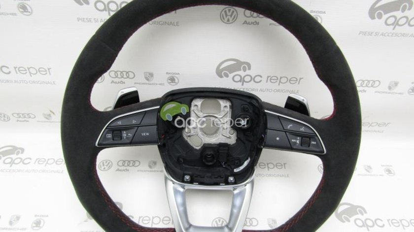 Volan Tesit cu padele / Alcantara Original Audi RSQ8 / Q8 / SQ8 / Q7 4M / SQ7 / A4 8W B9