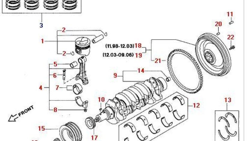 Volanta rigida Nissan Cabstar E motor 3,0TD NISSAN OE 12310-69T01